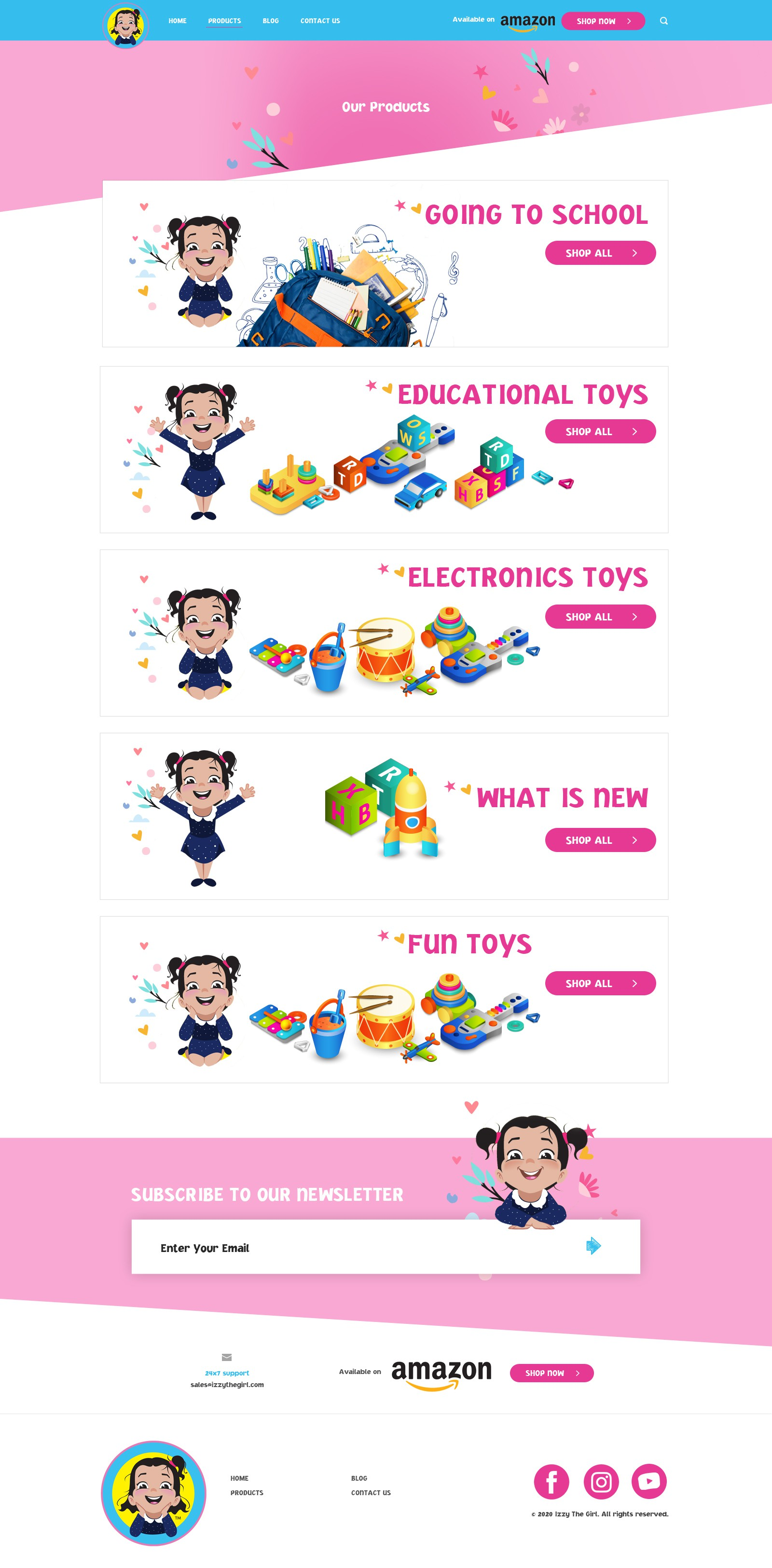 Web site for children products