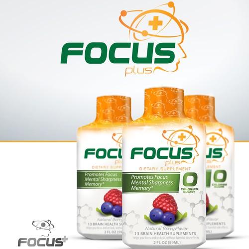 Focus-Enhancing Shot - Beverage Logo Design