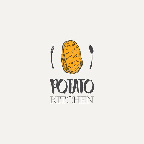 Logo for the restaurant specializes in potatoes