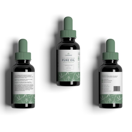 WINNER Clean and minimal label design for CannaVis