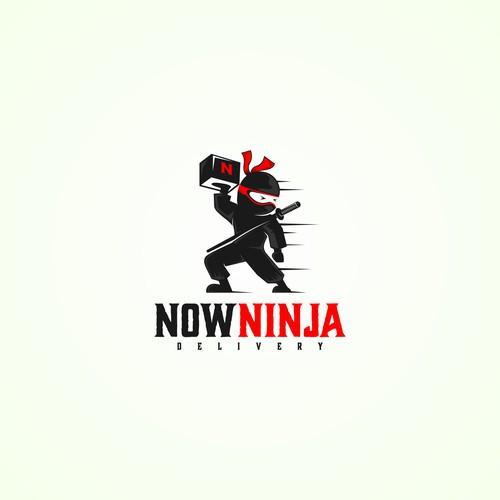 Fun app logo design for delivery company.