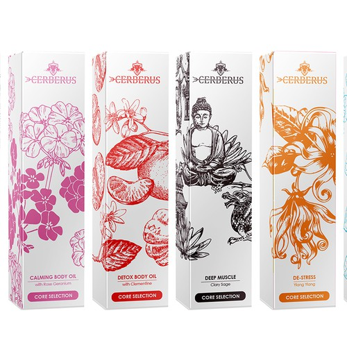 body oil packaging design