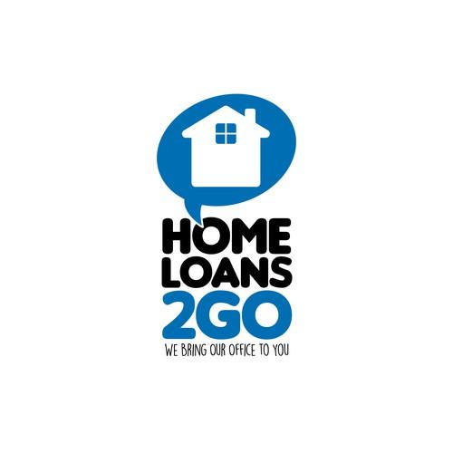 Logo concepto para HomeLoans2go.com