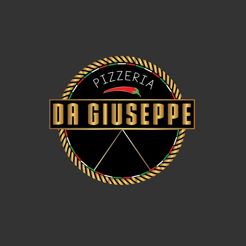 Logo design concept for pizzeria