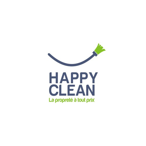 Logo for cleaning tool company, I use the broom to show the smile .