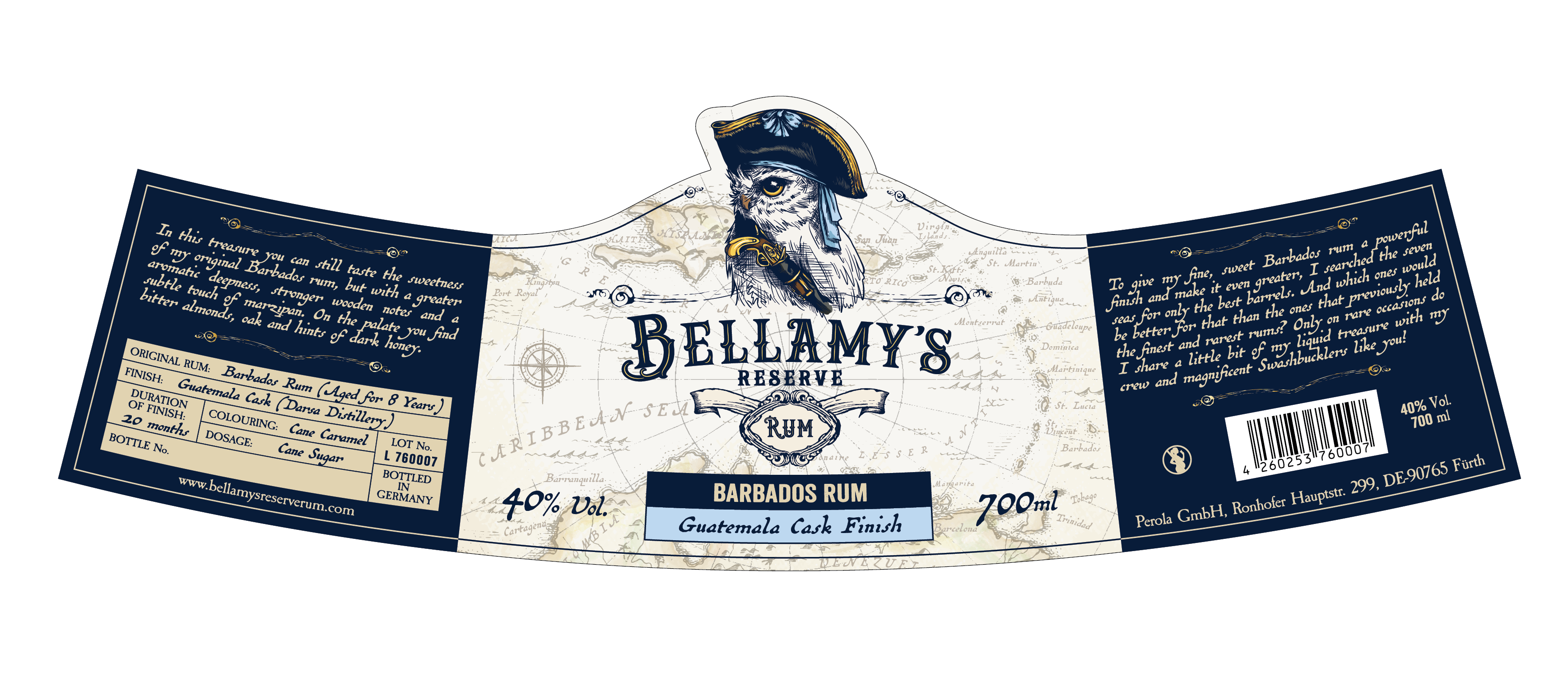 Design (Label, Coin, Cork Print,...) for our Bellamy's Reserve Rum
