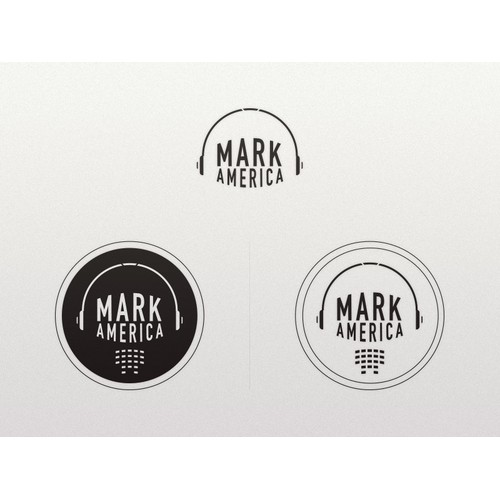 Logo concept for pop/dance music producer Mark America