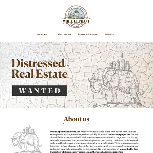 Landing Page for a Real Estate Company