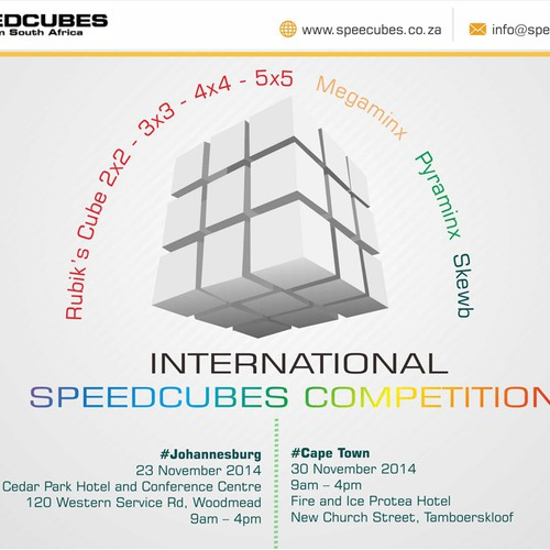 Speedcubes competition, image for website and to email
