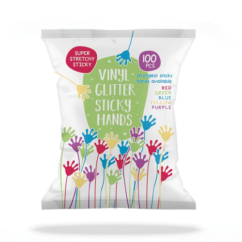 Vinyl Glitter Sticky Hands