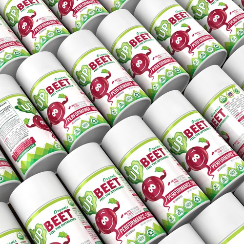 UP BEET label design