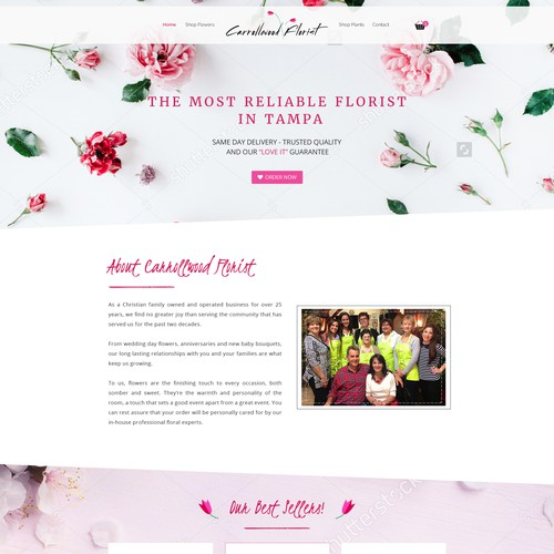 Homepage web design