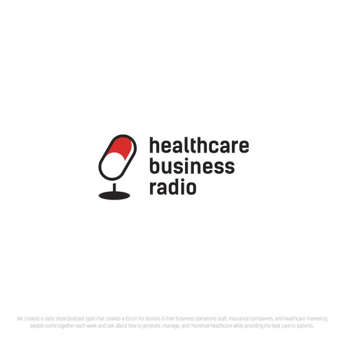 Logo concept for a healthcare podcast
