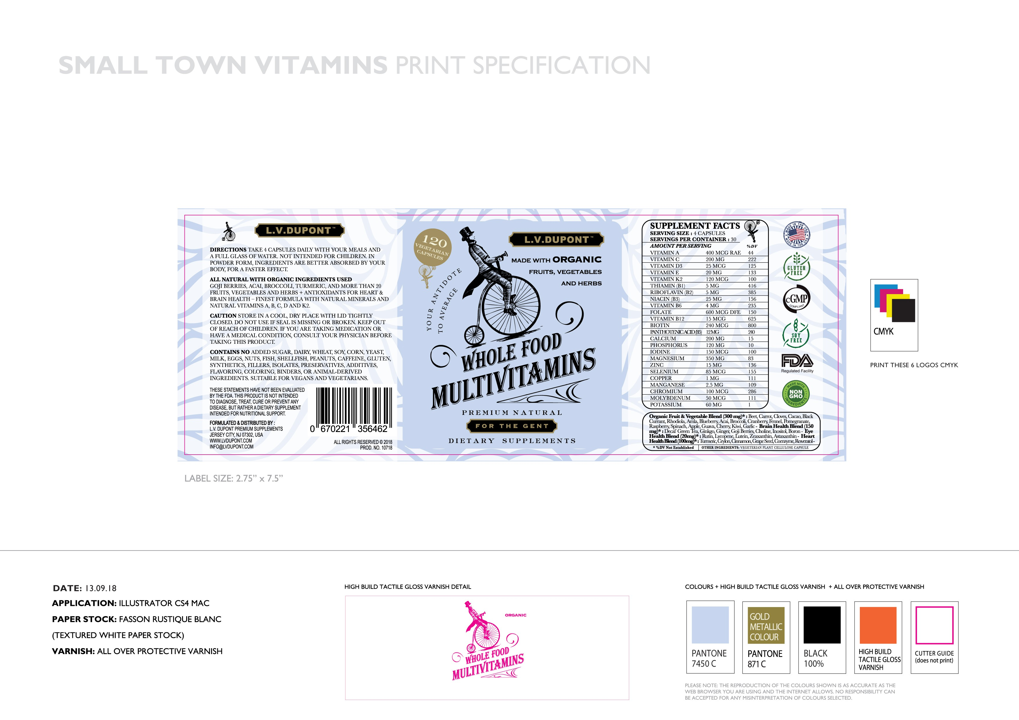 Small Town Vitamins post artwork colour change & Branding cut out