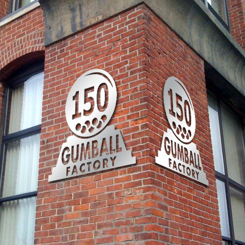 Building Sign for Gumball Factory