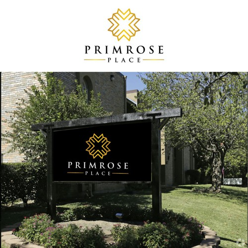 Bold and luxury logo for primrose place