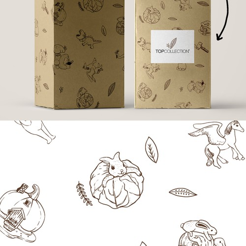 surface pattern design for box