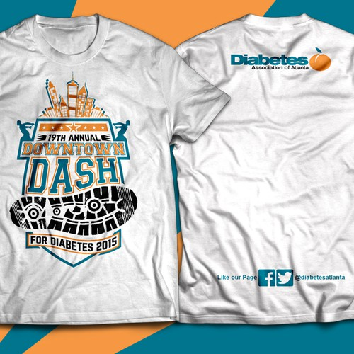 Create a memorable t-shirt design for our 5K runners!