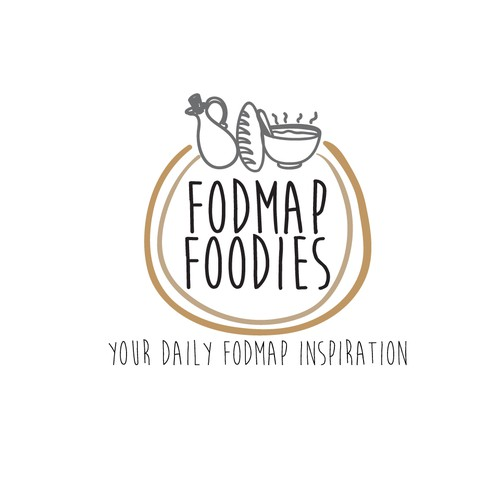 Logo for food blog website