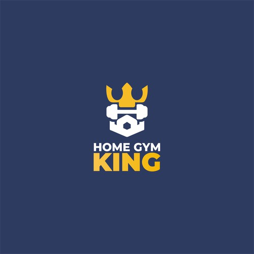 home gym king logo concept