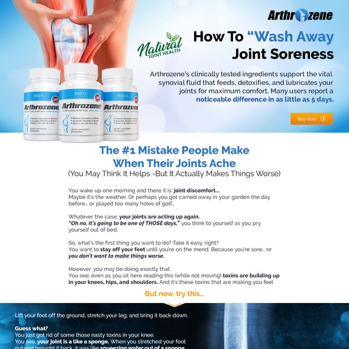 Landing Page for Joint Health Supplement