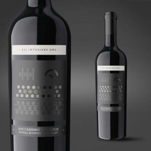 Enigma Wine label