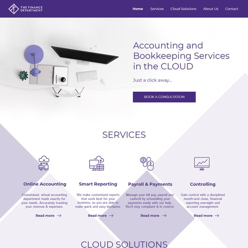 Web Design for Cloud Accounting firm