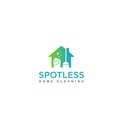 Logo design concept for a home cleaning company