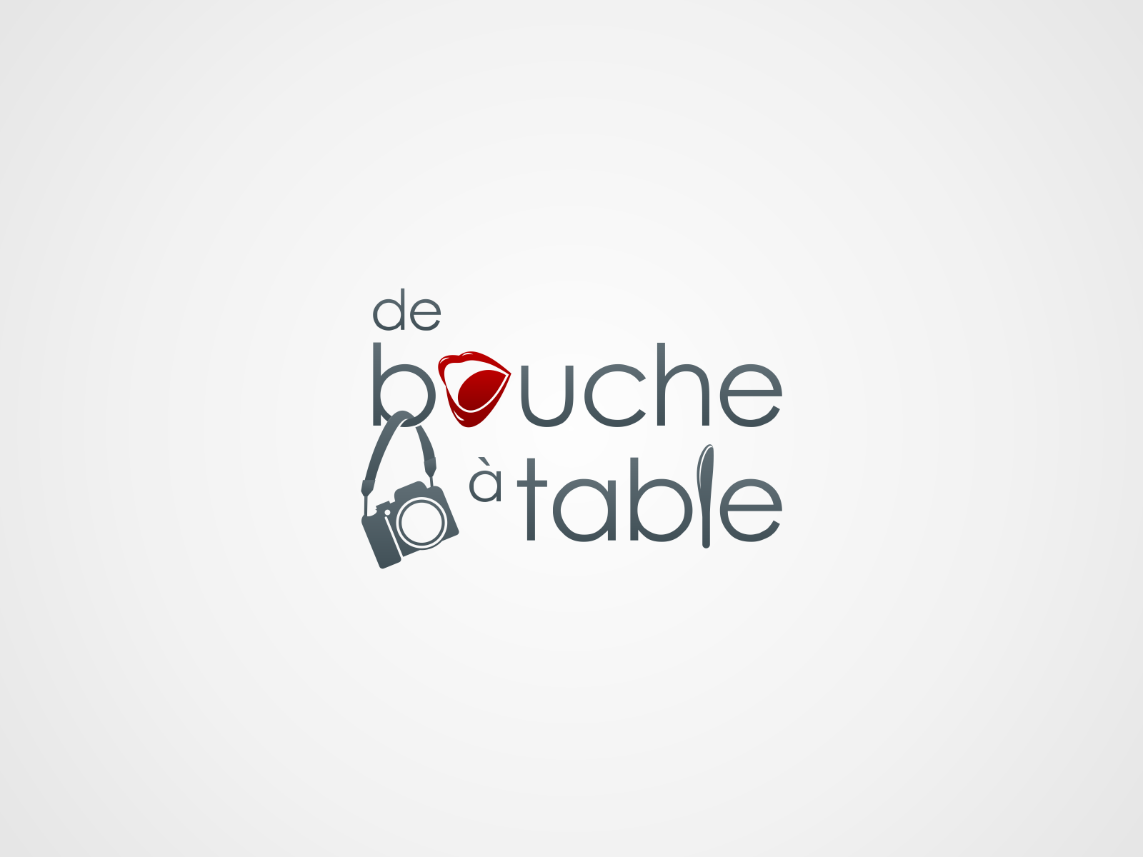 Create the next logo for De bouche à table