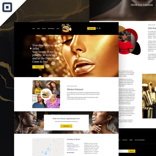 Oh-Kay - Makeup Artist Square Website