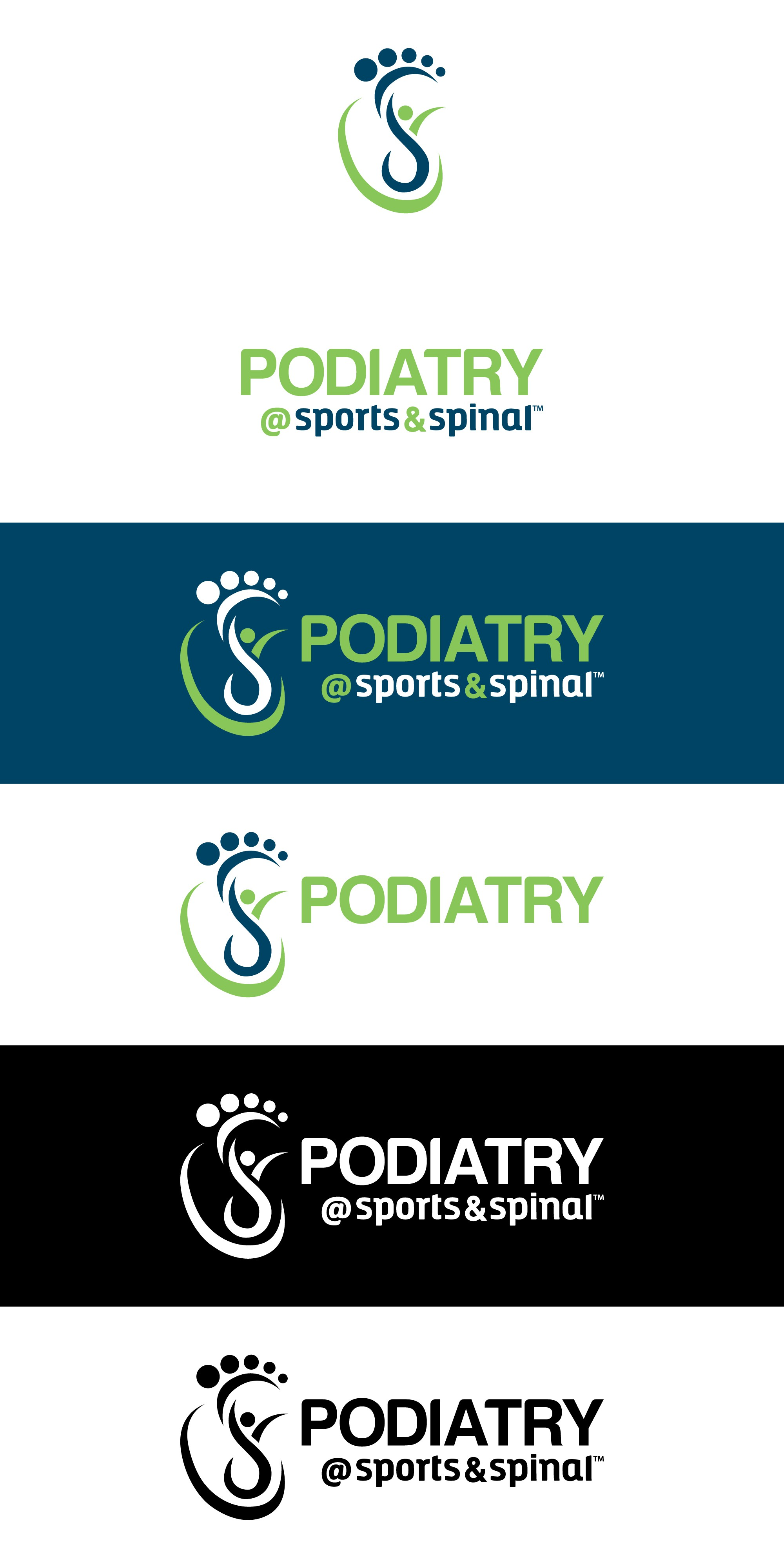 Create a Podiatry logo that is part of our brand family