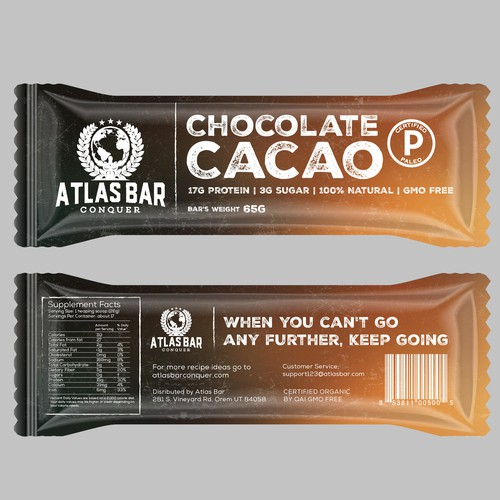 Packaging Design for Atlas Bar