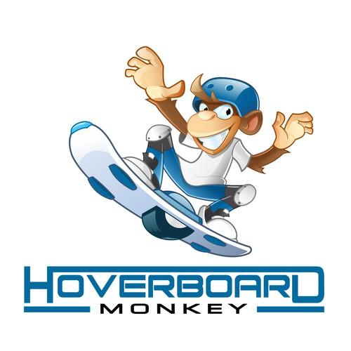 Hoverborad monkey mascot