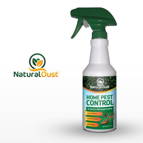 Label Design for NaturalOust Home Pest Control
