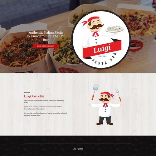 Luigi Pasta Bar - Square Online Store website
