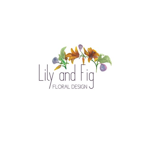 Logo for a floral design shop