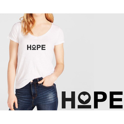 Design a women's t-shirt for a new brand that gives profits to charity