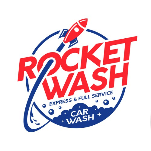 logo design for full service and express care car wash.
