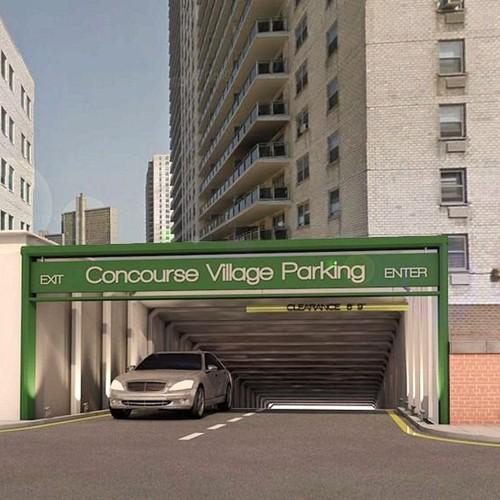 Parking entrance design