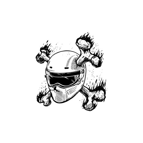 bone and helmet