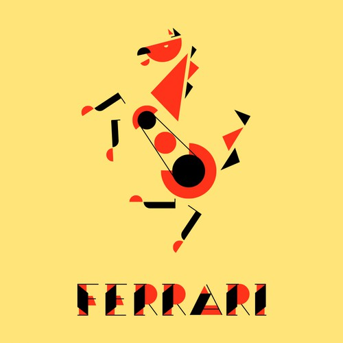 Ferrari in Bauhaus Style