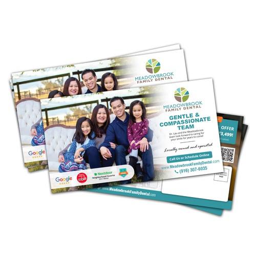 Postcard Design for Meadowbrook Family Dental