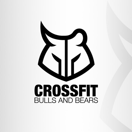 Design a logo for CROSSFIT BULLS AND BEARS