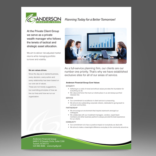 Anderson Financial Group - Flyer Design