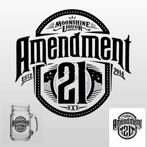 Be the designer of the logo for the next huge moonshine - Amendment 21!