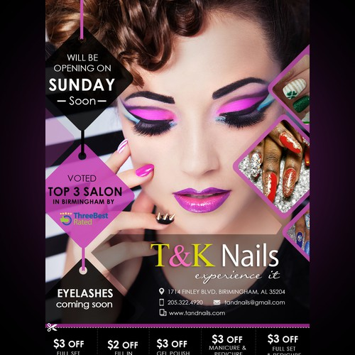 Flyers design for a great nail art artist