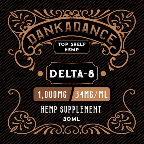 Retro label design for Hemp Supplement
