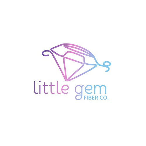 Little Gem Fiber Co. Logo Design