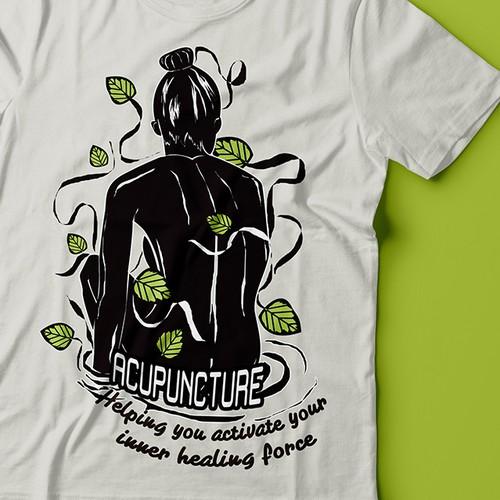 Accupunter t shirt design