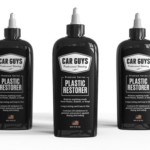 Label design Plastic Restorer